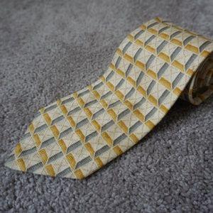 Ermenegildo Zegna Mens Neck Tie 100% Silk Yellow
